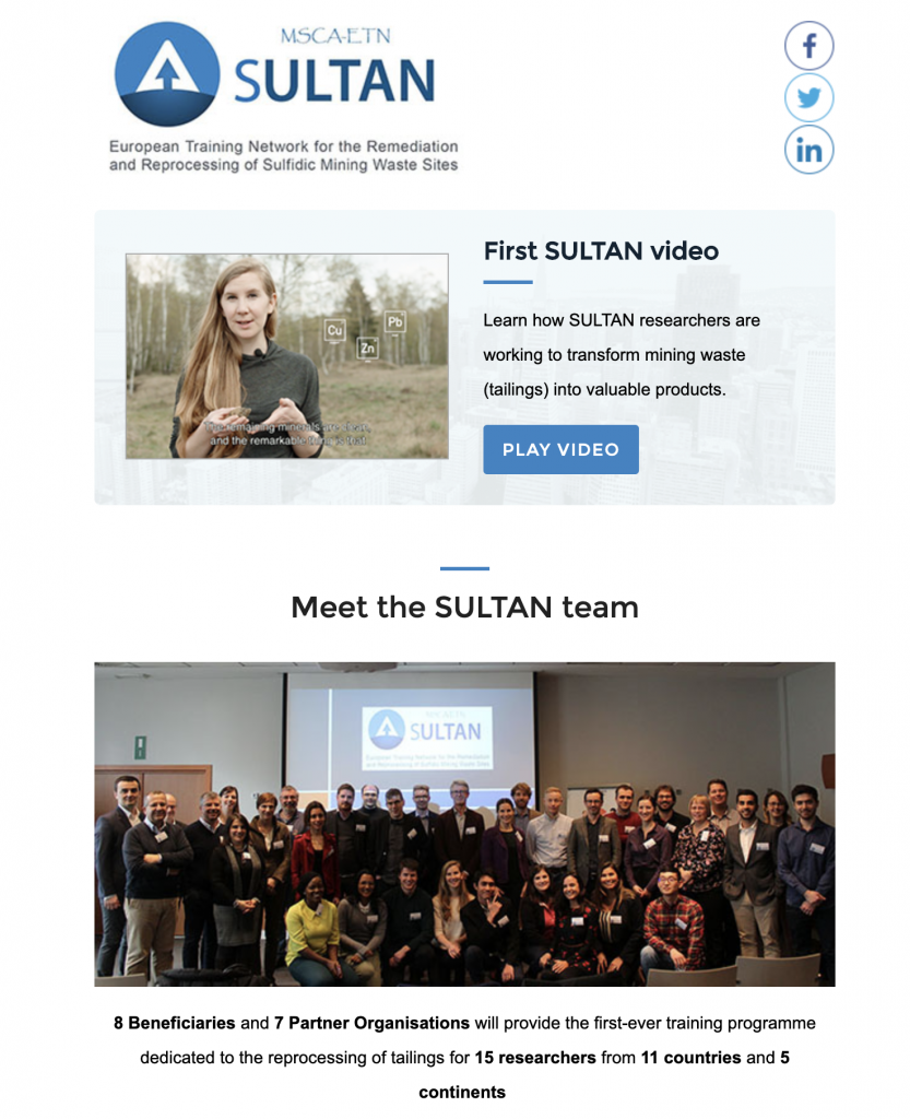 SULTAN Newsletter 1, 21 July 2019